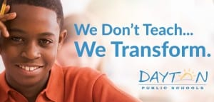 "Poor concept for Dayton Public Schools billboard- ""We don't teach"" should never be on a school billboard"