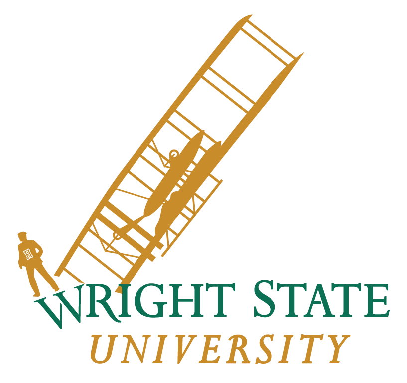 The new wright state logo not done by YorkBranding or Push Inc showing Wright State leadership under Dr. David Hopkins