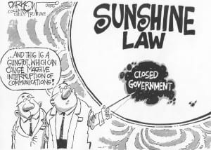 Sunshine law cartoon