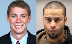 Brock Turner left, Eric Baum right. Two criminals, two different outcomes. Mugshots