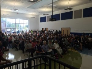 A full house at Rivers Edge PK-8 for DPS superintendents presentations