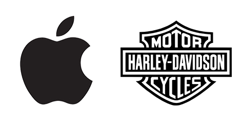 Apple and Harley Davidson logos