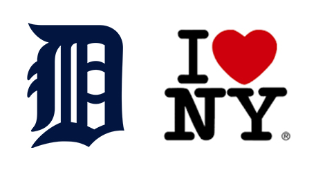 Detroit and I love Ny Logo