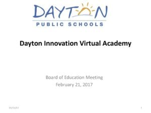 Slide about Dayton Public Schools Virtual Academy