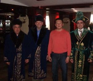 Photo of Togrul Bagirov, Stephen Payne, Timur Kulibayev (son-in-law of the President of Kazakhstan & Chairman of the KazEnergy Association and VP of Samruk – the new state-owned holding company), and Adil Baguirov
