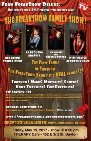 Freakshow Deluxe show poster
