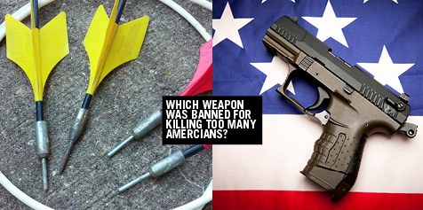 Which weapon was banned for killing too many Americans?