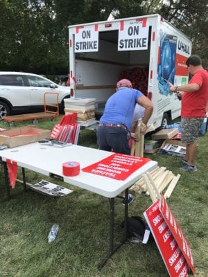 Dayton Public Schools strike prep- signs for the strikers
