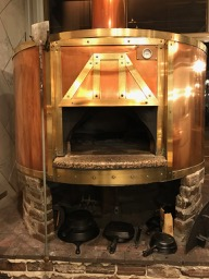 The copper wood fired oven of District Provisions