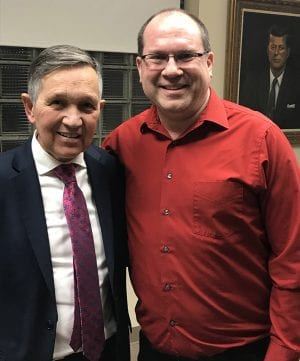 Dennis Kucinich with David Esrati