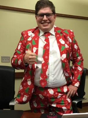 Regional SBA director Rob Scott knows how to share the christmas spirt