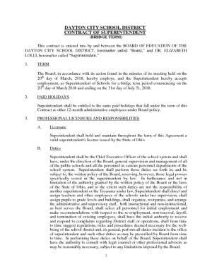 thumbnail of Superintendent Contract of Dr. Elizabeth Lolli – 2018 (Bridge Term)