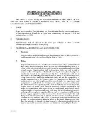 thumbnail of Superintendent Contract of Dr. Elizabeth Lolli – 2018