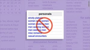 craigslist personals banned
