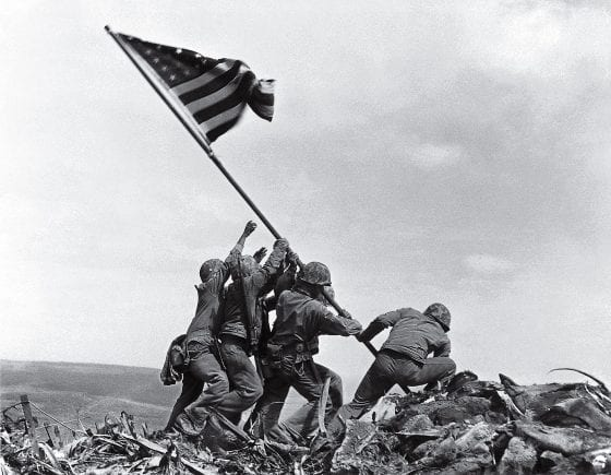 Flag Raising on Iwo Jima by Joe Rosenthal