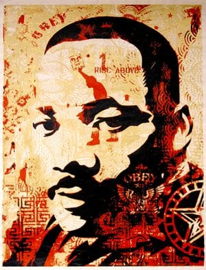 Shepard Fairey MLK print