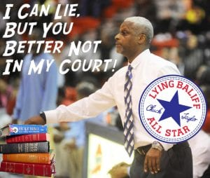 Chuck Taylor is a Baliff in Montgomery County- who lied on the stand as the Dunbar High School Basketball Coach