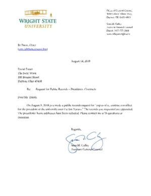 thumbnail of WSU Response to PRR – Presidents Contracts