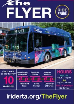 The Flyer- a free bus for white people in Dayton OHIO