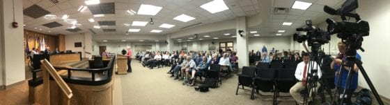 Packed Dayton City Commission meeting 5 June 2019