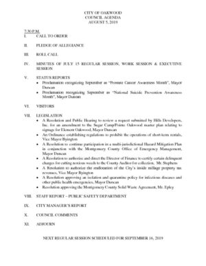 thumbnail of Oakwood agenda 8-5-2019-Meeting-Packet