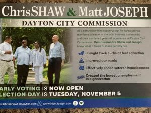 Matt Joseph and Chris Shaw mailer for black people in their Dayton City Commission race