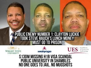 Clayton Luckie took a fall for chump change. Wright State- no one goes to jail