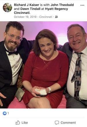 Richard Kaiser, John Theobald and Dawn Tindall at the Hyatt Regency Cincy