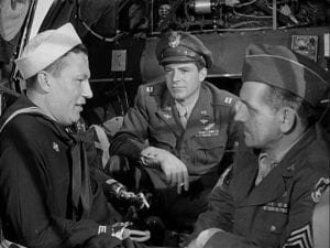 "Harold Russell with his two actor buddies in ""Best years of our lives"""