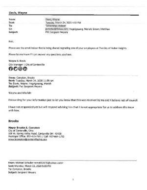 thumbnail of Davis Schommer Email & Letter