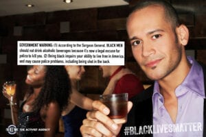 Government warning on drinking while black