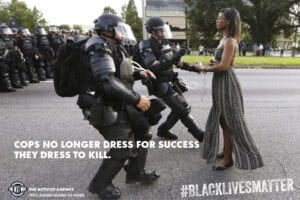 COPS NO LONGER DRESS FOR SUCCESS THEY DRESS TO KILL. Photo by JONATHAN BACHMAN FOR REUTERS